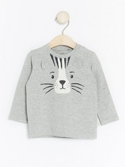 Animal Top with Ears Grey