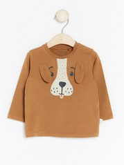 Animal Top with Ears Brown
