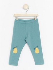 Leggings with Fruits Turquoise