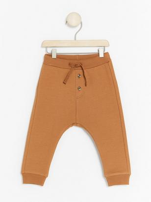 Trousers with Brushed Inside Brown