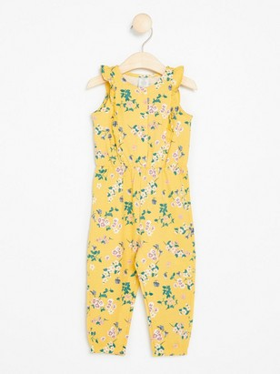 Floral Yellow Jumpsuit Yellow