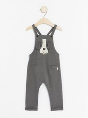 Bib Trousers with a Dog Grey