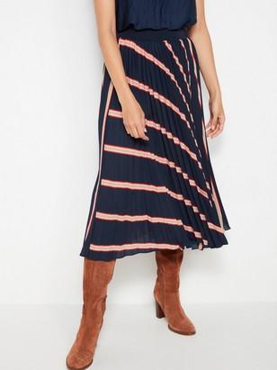 Plisovaná sukně sproužky Modrá