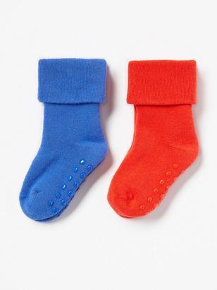 2-pack strumpor med antislip och vikbar mudd Röd