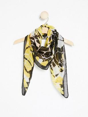 Tkaný vzorovaný šátek Žlutá