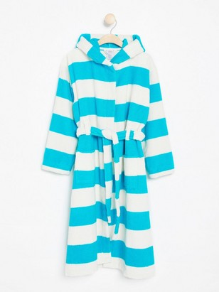 Striped Bathrobe Turquoise
