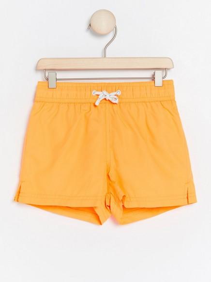 Neonoransje badeshorts Oransje
