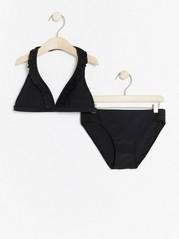 Bikini med volang Svart