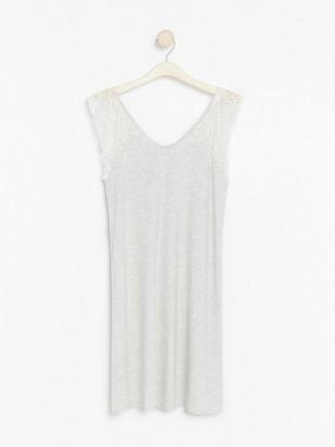 Grey night dress in lyocell blend  Grey