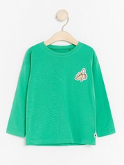 Long Sleeve Top with Fruits Green