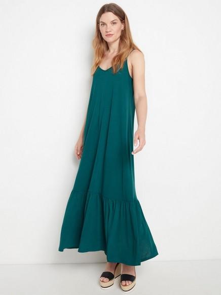 Käännettävä mekko lyocell-sekoitetta Sininen