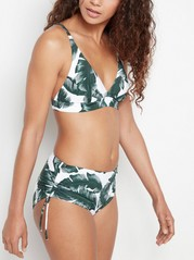 Klassisk bikinitruse med mellomhøyt liv Grønn