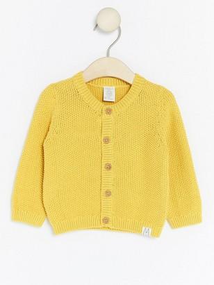 Kardigan sperličkovým vzorem Žlutá