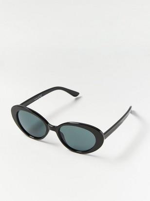 Round Cat Eye Sunglasses Black