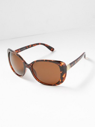 Sunglasses with Metal Details  Brown