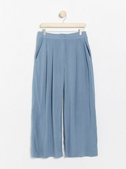Blue trousers with high waist Blue