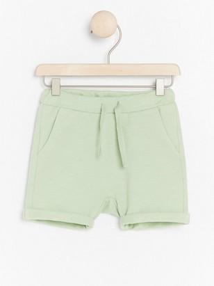 Žerzejové šortky Zelená