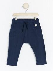 Tkané kalhoty Modrá