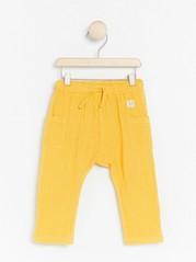 Tkané kalhoty Žlutá