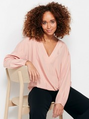 Blouse in Modal Blend  Pink