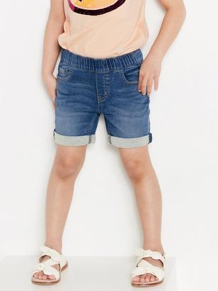 Regular shorts i denimtrikå Blå
