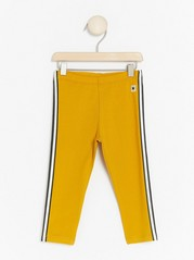 Yellow Leggings with Side Stripes Yellow