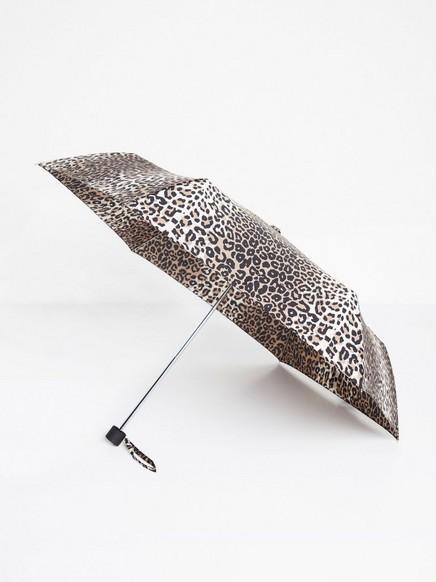 Leopardmønstret paraply Beige