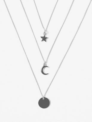 3-pack Necklaces with Pendants Metal