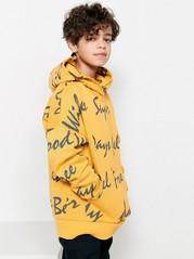 Yellow Hooded Sweater Yellow