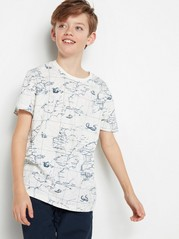 T-shirt with Map White