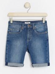 Narrow Jeansshorts Blå