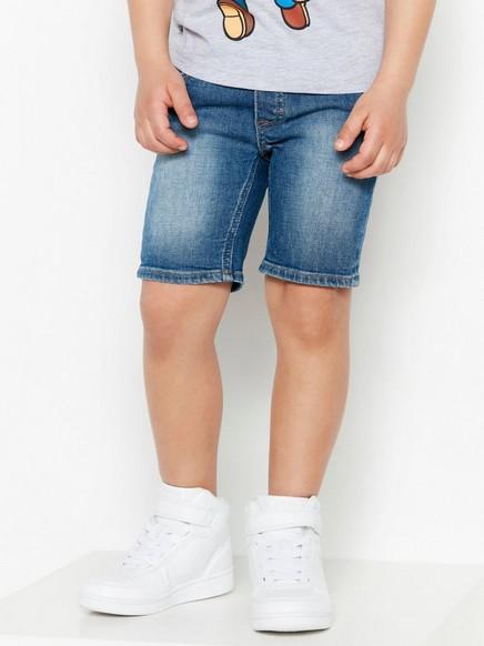 Smal jeansshorts Blå