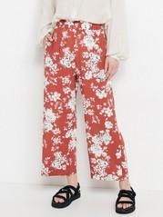 BELLA Relaxed bukse Rød
