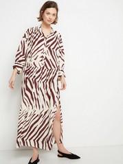 Sebramønstret kjole Hvit