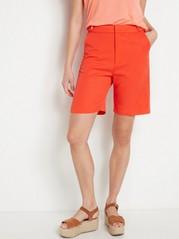 Rød shorts med høyt liv Oransje