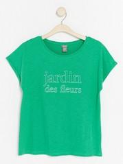 Short Sleeve Cotton Top  Green