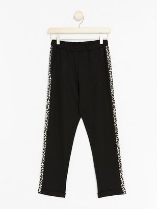 Trousers with Leo Side Panels Black