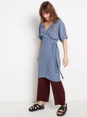 Dusty blue wrap dress  Blue