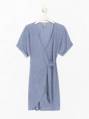 Zavinovací šaty Modrá