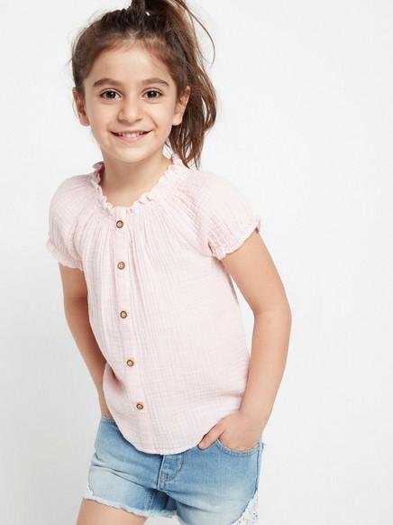 Rypytetty pusero Vaaleanpunainen