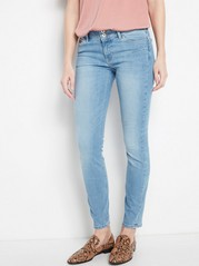 LILLY Light blue slim fit shaping jeans  Blue