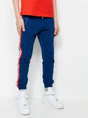 Sweatpants with Side Panels Blue