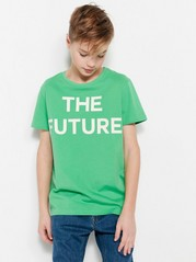 T-shirt with Text Green