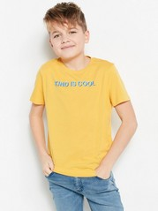 T-shirt with Text Yellow