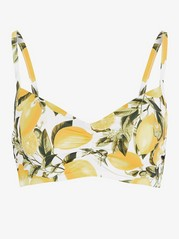 Unpadded Bikini Bra Yellow