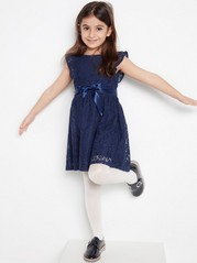 Dress with Lace Blue