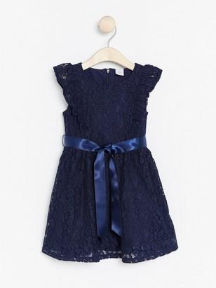 Šaty skrajkou Modrá