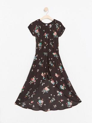 Květované šaty se šortkami Černá