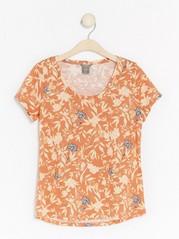 Patterned Cotton Top  Orange