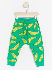 Trousers with Banana Pattern Green